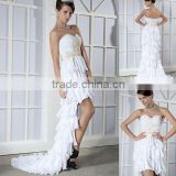 Strapless Sweetheart neck full beaded overlap chiffon evening dress XYY03-026