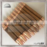 Braided Metal Pump Connector / copper female sweat ends / bronze corrugated hose and single bronze braid