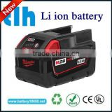 Manufacture battery for milwaukee drill 18v M18 red li-ion 4.0ah XC Milwaukee 48-11-1840