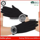 HELILAI Black Ladies Touch Screen Spandex Womens Winter Gloves
