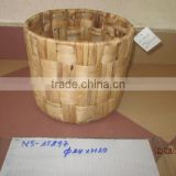 Hot products! Round water hyacinth basket with handles, storage water hyacinth basket, laundry basket with natural material
