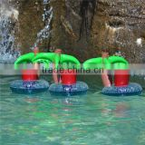 Coconut tree palm floating inflatable cup holder drink holder