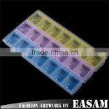 Professional Monday To Sunday Time Marked Empty 24 Grid Nail Tips Box,nail art decoration box