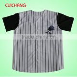 Baseball jersey with polyester fabric&100% polyester blank baseball jerseys&100% polyester baseball jersey cc-556
