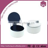 Fashion White Round Ball Shaped Jewellery Packaging Leather Box With Handle For Necklace/Earring/Ring Accessories On Sale