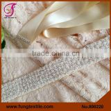 FUNG 800220 Wholesales Wedding Accessories Beaded Sash For Wedding Dress