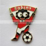 Custom Made Red Hard Enamel Badge Pin