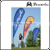 OEM design teardrop beach flags,outdoor advertising flags, flying flags and banners