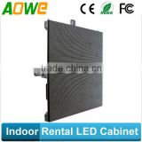 indoor rental led commercial advertising display screen cabinet