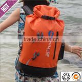 Popular product 2016 PVC tarpaulin waterproof dry bag backpack for outdoor rafting, canyoning, boating