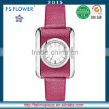 FS FLOWER - SWF059 Leather-Wrapped Watches Case Beautiful Novelty Fashion Ladies Wrist Watch