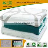 bamboo cotton thick fleece blanket for baby ,with fleece super soft and healthy blanket for baby use