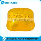 Comfortable Cheaper plastic pvc flocked inflatable baby air headrest sleeping duck pillow