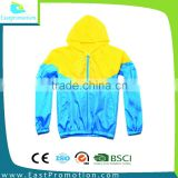 2016 HOODED PULLOVER WINDBREAKER JACKET POLYESTER FABRIC FOR MEN