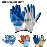 Cheap Household Work Blue Nitrile Palm Coated Glove/Guantes De Latex 0184