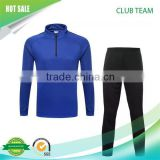 Latest Design soccer team thailand quality 100% Polyester Mens Sport Tracksuit