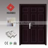 High quality wood double interior entry solid wooden double pure color doors with hardware