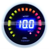 52mm Racetech blue LED display digital oil temperature LED gauge for performance car/with temp sensor