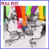 High quality Eco-friendly customized polyester ego lanyard ring clips, e cig lanyard ring