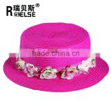 fashion girls beautiful kids school travling paper straw hat for children