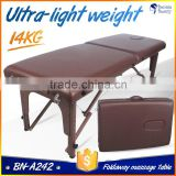 BN-A242 Super light beautiful portable folding massage bed with breathing facial hole used for the full body