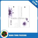 Thickness art paper printed hangtag