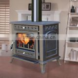 Eco-friendly Good quality freestanding cast iron wood burning stove CE certificate indoor metal stove cheap wood burning stove