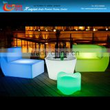 PE Plastic battery operated LED bar sofa color changing led sofa