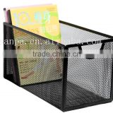 High Quality Home Storage/Office Desk Stationery Storage Metal Mesh Black CD Box/CD Rank
