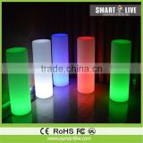 cordless plastic led cylinder light/outdoor decoration/led table lamp