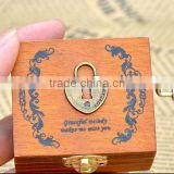 Eco-friendly best design wood pull string music box