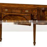 Aesthetic Classic English Designed Fine Handcarved Replica Solid Wood Veneer Console Table BF12-05274e