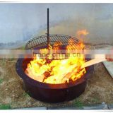 Camping charcoal bbq Swing-away Campfire Grill