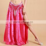 Yifusha ladies arabic sexy dance long skirt side slit long skirt for belly dance