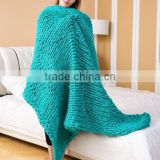 2017 best selling thick gauge hand knit blankets