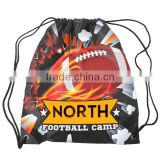 "Sublimated Drawstring Bag With Double Sided Print - made from 600 denier polyester and measures 16""h x 13""w"