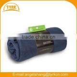 Blue textile fabric fleece blanket throw wholesales made in china