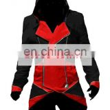 Rose-team Fantasia Anime Cosplay Lolita Dress Custom Made Assassin's Creed III Connor Red And Black Jacket Cosplay Costume