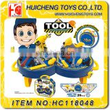 Funny 2 in 1 kids tool toy set Eco-friendly 25PCS ABS plastic tool workshop EN71,62115,ASTM,HR4040,14P