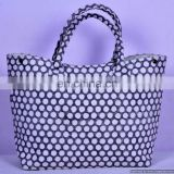 Indian Hand Block Printed Bag Hippie Ladies Bag Magnet Button Closure With Polca Dot Hobo Bag