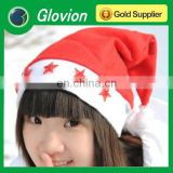 Hot selling LED flashing christmas hat with five flashing star