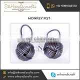 Long lasting Fancy Styles Handmade Cotton Monkey Fist Keychain for Kids
