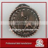 German Standard Eco-friendly Custom Made Frosted Metal Embossed Baseket Ball Antique Bronze Medal