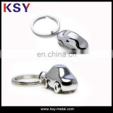 Car shape hot sell metal keychains full 3D with clothing