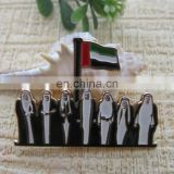 United Arab Emirates national day gift we make custom metal badges label pin magnet badge national flag pin badge