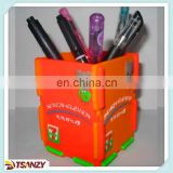 custom durable plastic pvc brush pot