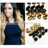 New Style 8A Grade 4 Bundles Peruvian Ombre Hair Color #1b/27 Body weave 100% Remy Human Hair Weaves