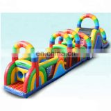 rainbow kid china cheap commercial inflatable obstacle course for sale