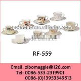 Hot Sale Zibo Made 220cc Porcelain Promotion Personalized Milk Cup Saucer