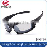 Premium bifocal interchangeable tear off lens army safety goggles motorcycle military black frame clear lens